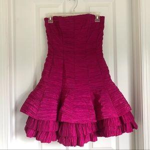 NWOT jessica mcclintock pink strapless dress